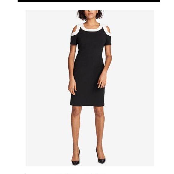 Tommy Hilfiger 4 Cold- Shoulder Sheath Dress